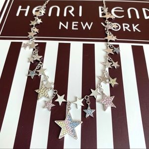 Henri Bendel Luxe Pave Multi Star Rainbow Necklace